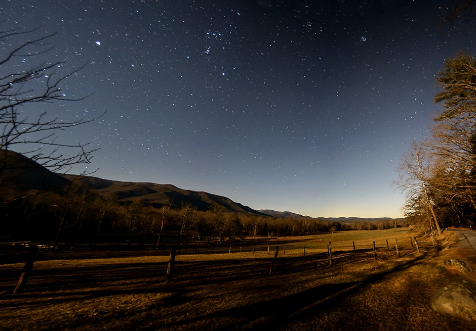 Great Smoky Mountains Night time